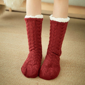 Sherpa Lined Slipper Socks