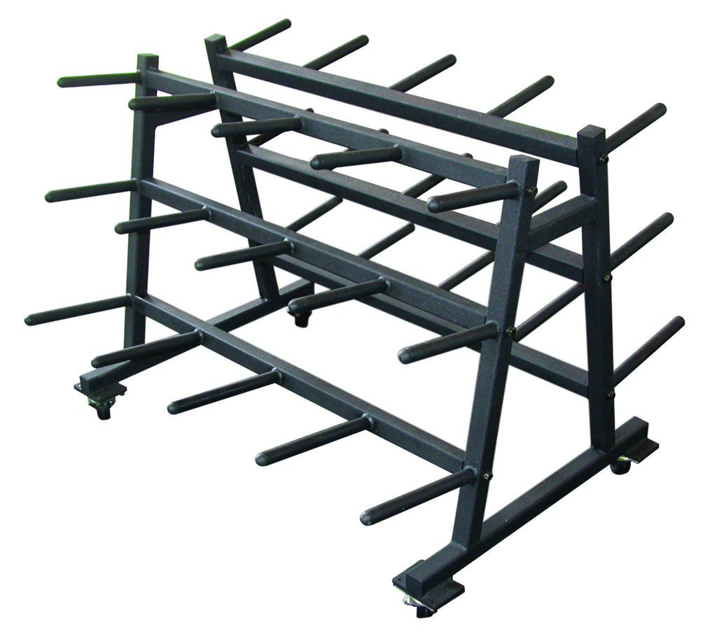 Mobile Aerobic Set Rack - Black