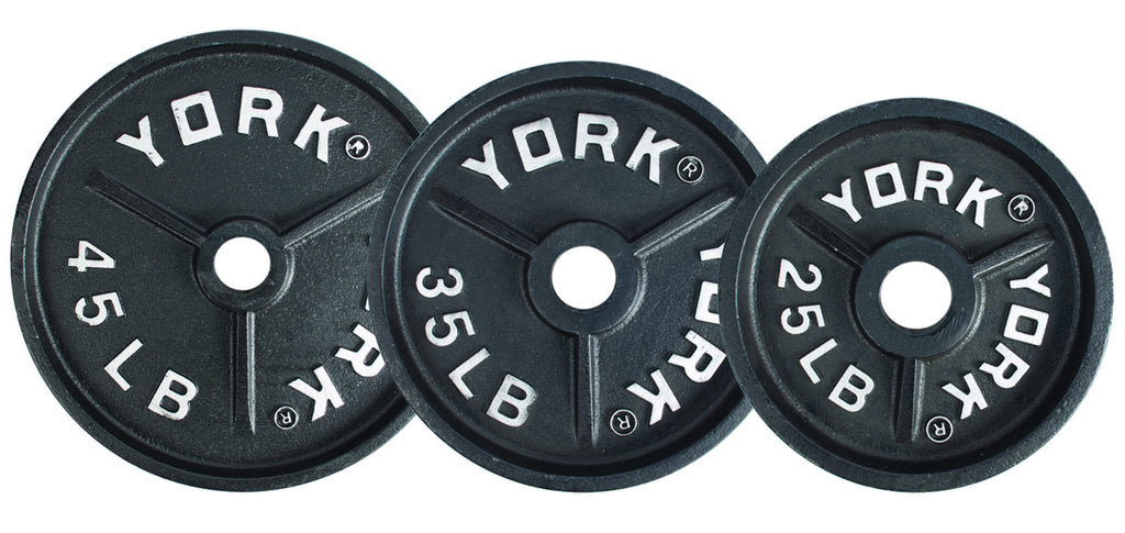 York Barbell 25 lb Deep Dish Olympic Plate