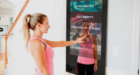 "Echelon 50"" HD Touchscreen Reflection Training Mirror"