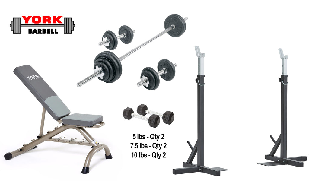 In-Home Squat/Bench and Dumbbell Package