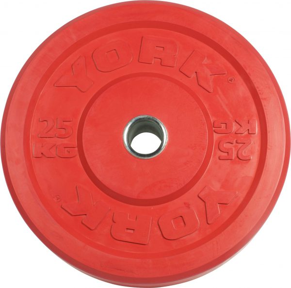 York Barbell USA 10-25 kg Rubber Training Bumper Plate