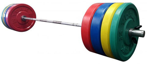 Image of York Barbell USA Solid Colored Rubber Training Bumper metric (kg) Set