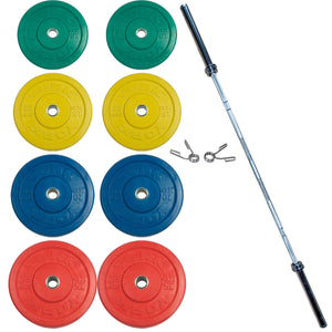 York Barbell USA Colored Solid Rubber Training Bumper Set
