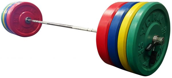 York Barbell USA Solid Colored Rubber Training Bumper metric (kg) Set