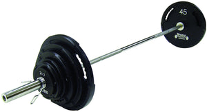 York Barbell 300 lbs. G-2 Dual Grip Thin Line Cast Iron Set