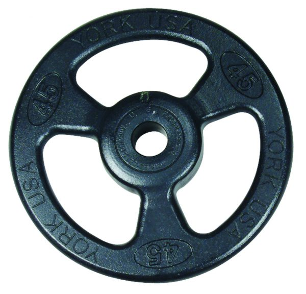 York Barbell ISO-GRIP Steel Olympic Grip Plate