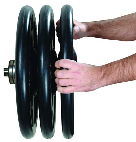 Image of York Barbell ISO-GRIP Steel Olympic Grip Plate