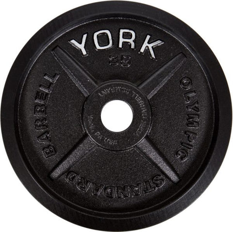 York Barbell Legacy Cast Iron Precision Milled Olympic Plate
