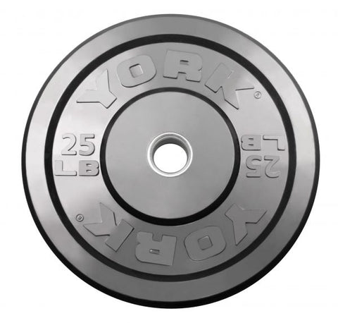 Image of York Barbell USA Rubber Training Bumper Plate - Black