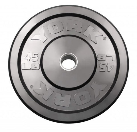 York Barbell USA Rubber Training Bumper Plate - Black