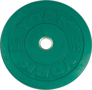 York Barbell USA 10-45 lb Rubber Training Bumper Plate