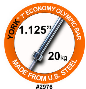 York Barbell 7' Olympic Bar for Olympic Steel Sleeves