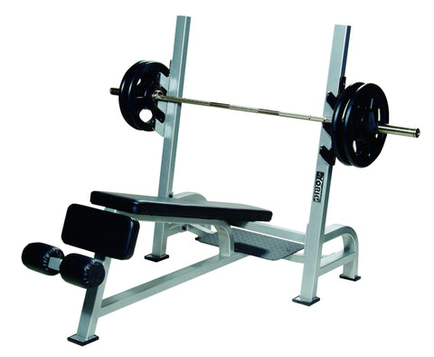 STS Olympic Decline Bench Press w/ Gun Racks