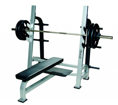 STS Olympic Flat Bench w/ Gun Racks