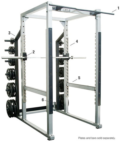 "Image of York Barbell ST POWER RACK w/ HOOK PLATES - 40"" WIDTH"