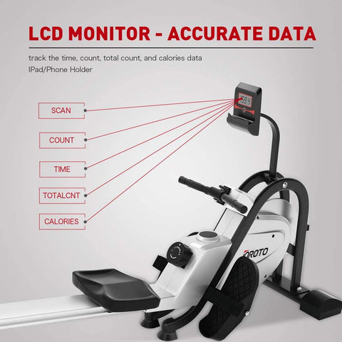 Image of JOROTO Magnetic Rower Rowing Machine with LCD Display