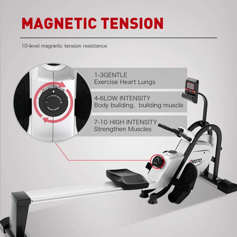 JOROTO Magnetic Rower Rowing Machine with LCD Display