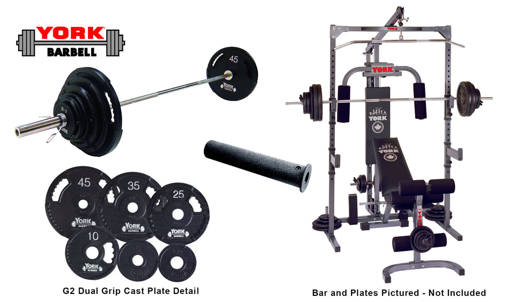 Basic Training Power Cage With Pulley and Barbell System