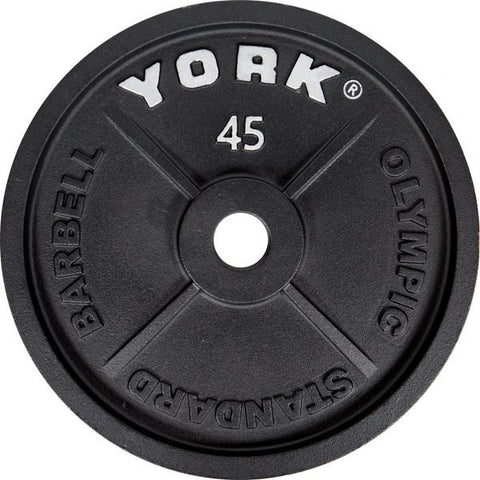 "Image of York Barbell 2"" Cast Iron Olympic Plate"