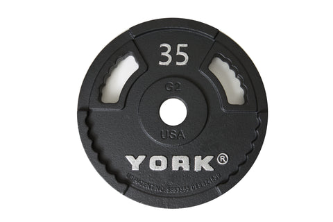 Image of York Barbell G-2 Cast Iron Olympic Plate