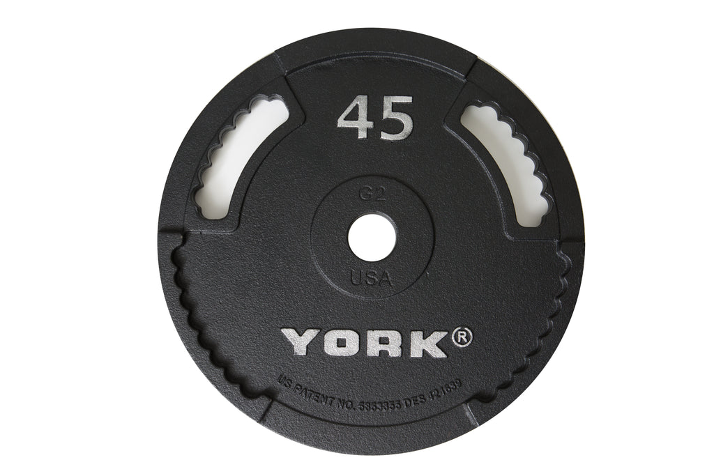 York Barbell G-2 Cast Iron Olympic Plate