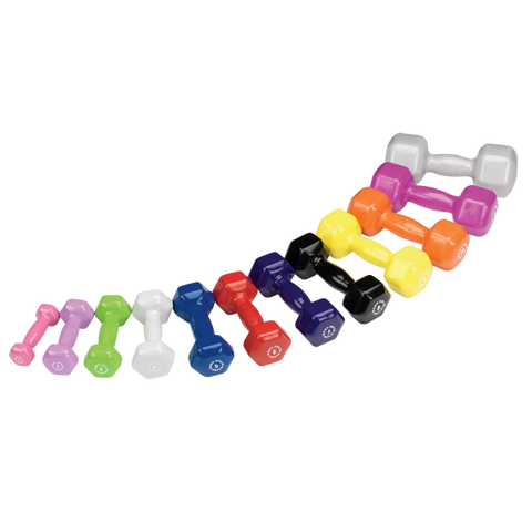 Image of Body Solid Vinyl Dumbbell Set (1lb-10lb set, 1-15lb set)