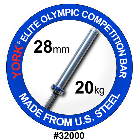 "York Barbell Men's ""Elite"" Competition Olympic Bar"