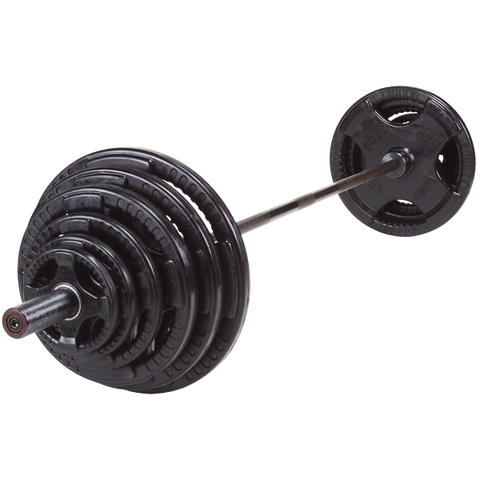 Image of Olympic Bar W/ Rubber Plates Set