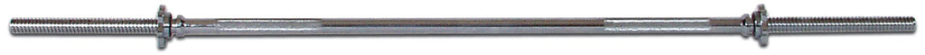 York Barbell Standard Chrome Spin-Lock Bar w/ Spin-Lock Collars