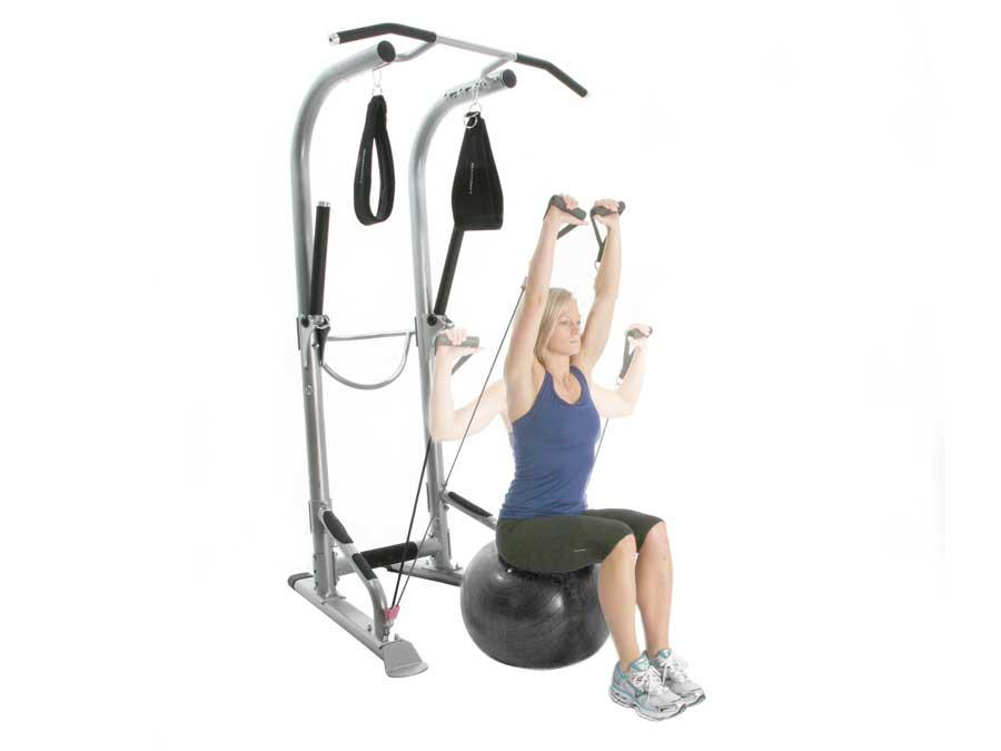 BodyCraft T3 Total Training Tower, w/Ball, Ab Straps & Power Bands