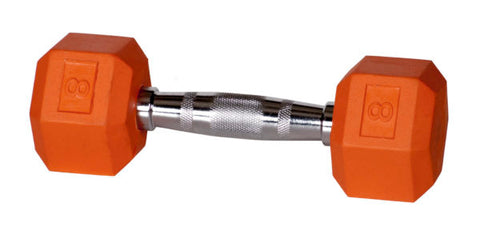 York Barbell Rubber Hex Dumbbell - Color
