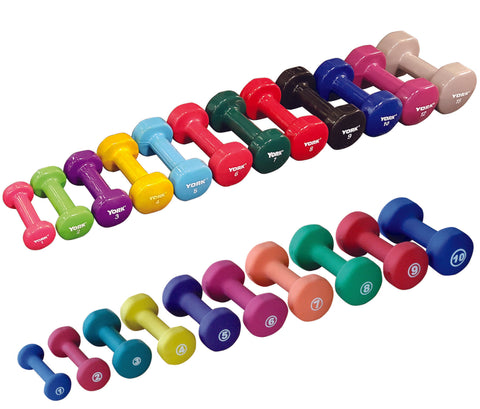 York Barbell Vinyl Fitbell - Multi-Color