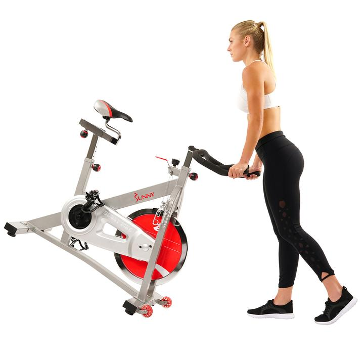 Sunny Health & Fitness 40 Lb Flywheel Belt Drive Pro Indoor Cycling Exercise Bike