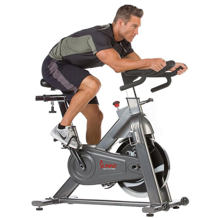 Sunny Health & Fitness 48.5 Lb Flywheel Chain Drive Commercial Indoor Cycling Exercise Bike
