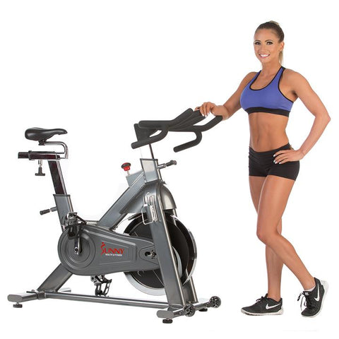Image of Sunny Health & Fitness 48.5 Lb Flywheel Chain Drive Commercial Indoor Cycling Exercise Bike