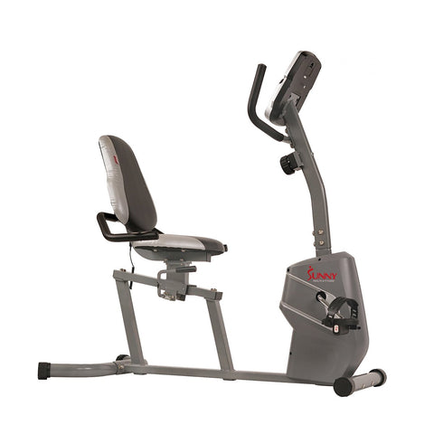 Image of Sunny health & Fitness Magnetic Recumbent Exercise Bike W/ Easy Adjustable Seat, Device Holder, Rpm and Pulse Rate