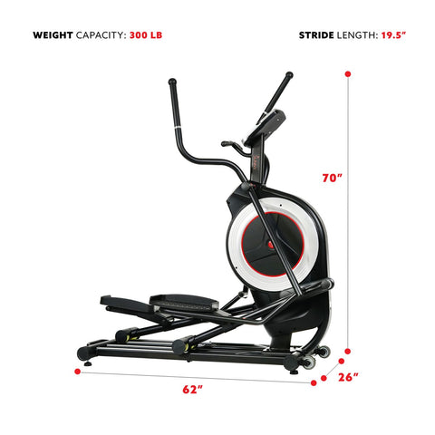 Sunny Health & Fitness Programmable Cardio Elliptical Trainer
