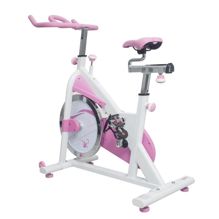 Sunny Health & Fitness Pink Belt Drive Premium Indoor Cycling Trainer Exercise Bike