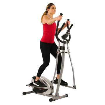 Sunny Health & Fitness Elliptical Bike Machine W/ LCD Monitor and Heart Rate Monitoring