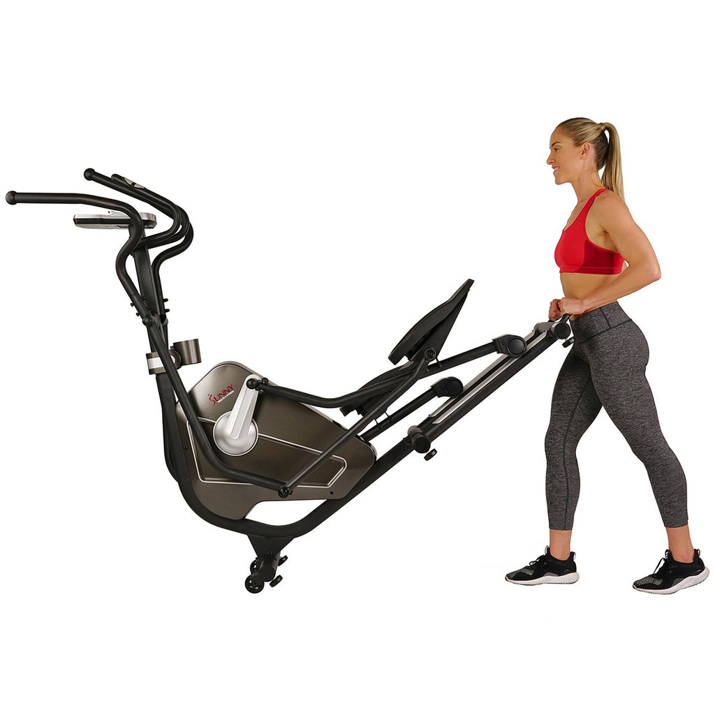 Sunny Health & Fitness Magnetic Elliptical Machine W/ Device Holder, Lcd Monitor and Heart Rate Monitoring - Circuit Zone