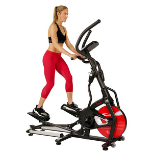 Sunny Health & Fitness Magnetic Elliptical Trainer Elliptical Machine w/ LCD Monitor and Heart Rate Monitoring - Stride Zone - SF-E3865