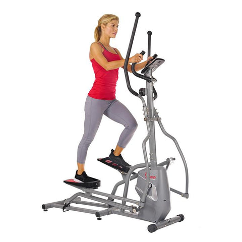 Image of Sunny Health and Fitness Magnetic Elliptical Trainer Elliptical Machine W/ Device Holder, LCD Monitor, and Heart Rate Monitor.