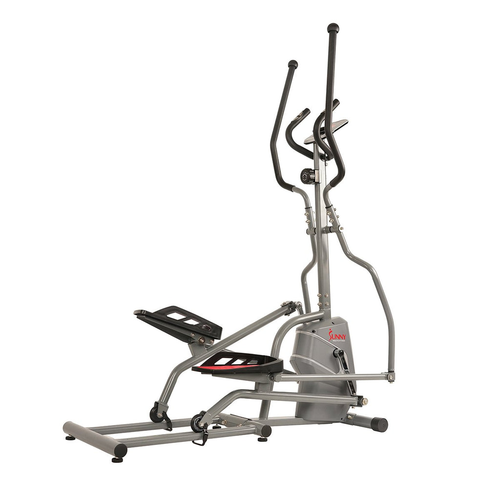Sunny Health and Fitness Magnetic Elliptical Trainer Elliptical Machine W/ Device Holder, LCD Monitor, and Heart Rate Monitor.