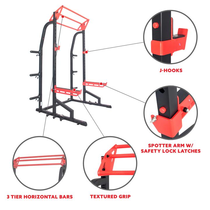 Sunny Health & Fitness Lat Pull Down Attachment Pulley System for Power Racks