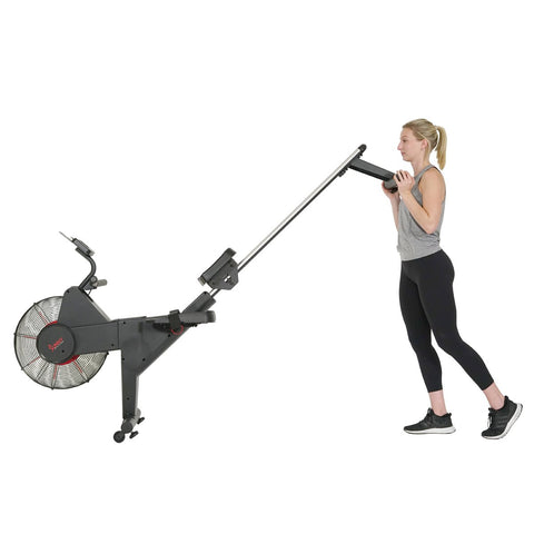 Image of Sunny Health & Fitness Carbon Premium Air Magnetic Rowing Machine