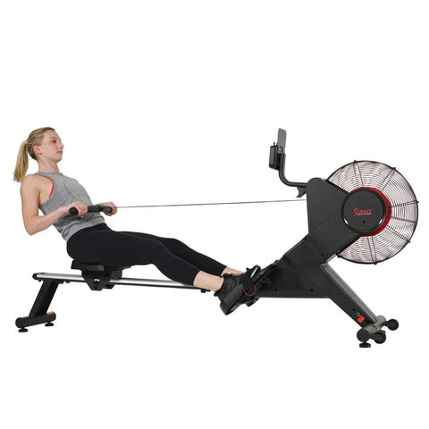 Sunny Health & Fitness Carbon Premium Air Magnetic Rowing Machine