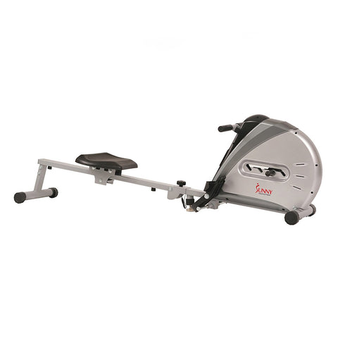 Image of Sunny Health & Fitness Elastic Cord Rowing Machine Rower W/ Lcd Monitor