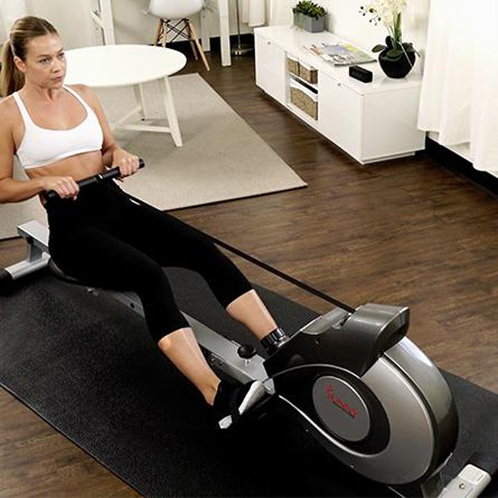Sunny Health & Fitness Magnetic Rowing Machine Rower W/ Lcd Monitor