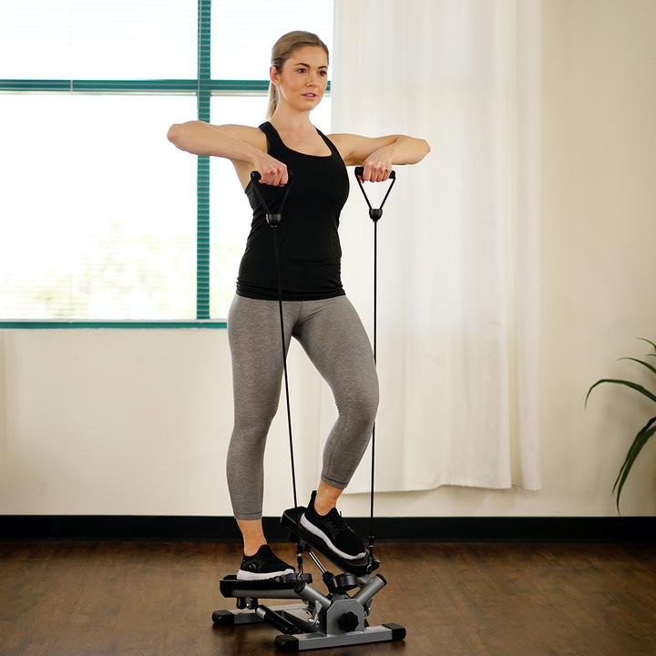 Sunny Health & Fitness Twist Stepper W/ Resistance Bands - No. 045